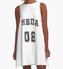 Heda number jersey A-Line Dress