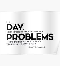 day problems - swami vivekananda Poster