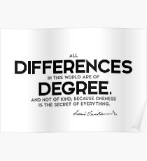 differences of degree - swami vivekananda Poster