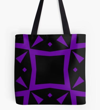 Black and Purple Design 3 by Julie  Everhart Tote Bag