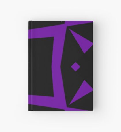 Black and Purple Design 3 by Julie  Everhart Hardcover Journal