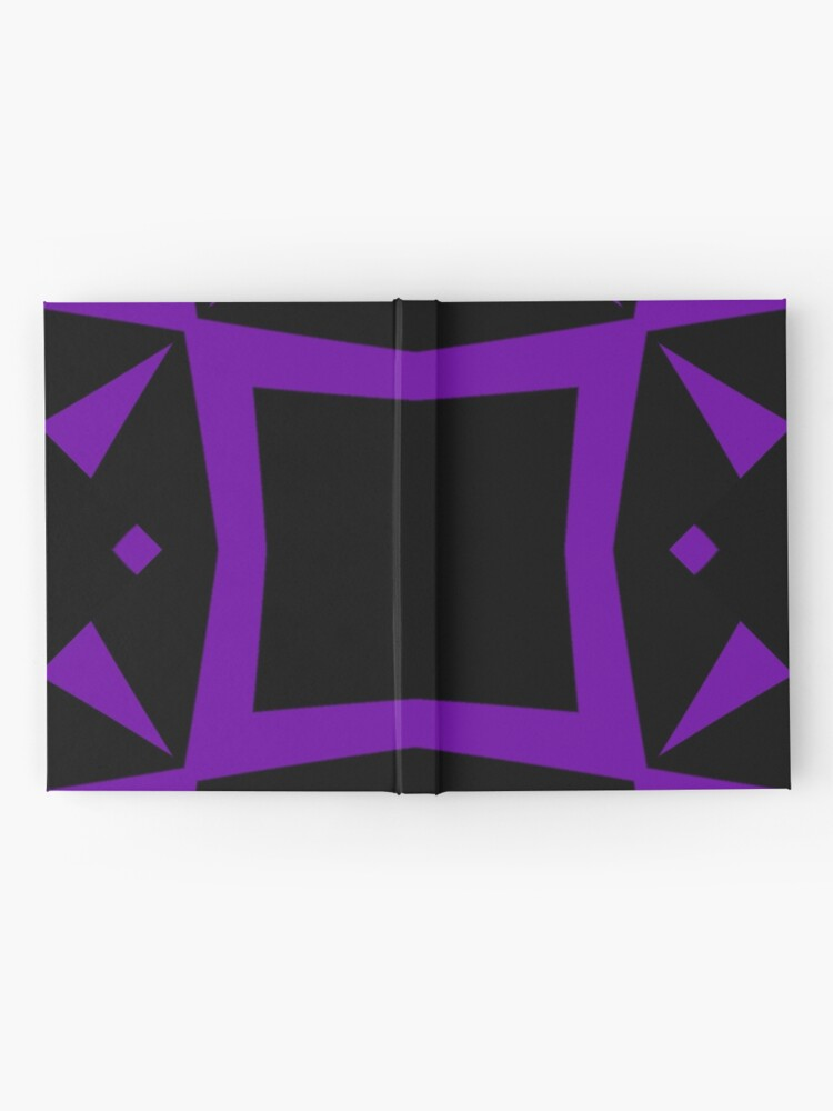 Alternate view of Black and Purple Design 3 by Julie  Everhart Hardcover Journal