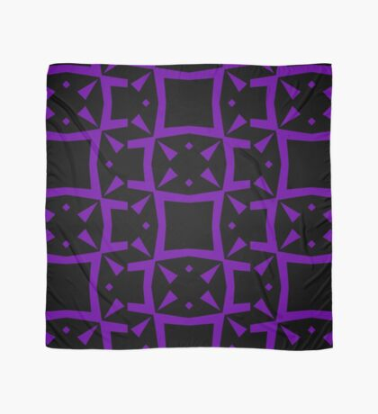 Black and Purple Design 3 by Julie  Everhart Scarf