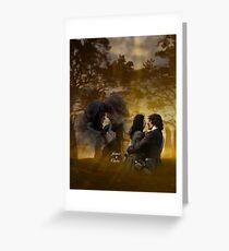 Jamie and Claire at Craigh na dun. Greeting Card