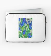Blue Iris and Bee Laptop Sleeve