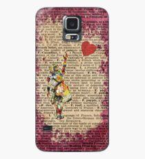 Funda/vinilo para Samsung Galaxy Vintage Alicia en el país de las maravillas Collage Quién en el mundo Soy cito