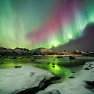 Ice and the Northern Lights by Frank Olsen