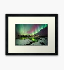 Ice and the Northern Lights Framed Print