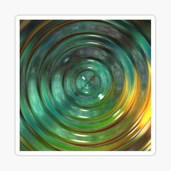 Metallic Green Swirl Sticker