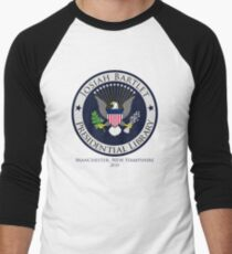 Josiah Bartlet Presidential Library Logo Men's Baseball ¾ T-Shirt