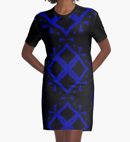 Black and Blue by Julie Everhart Graphic T-Shirt Dress