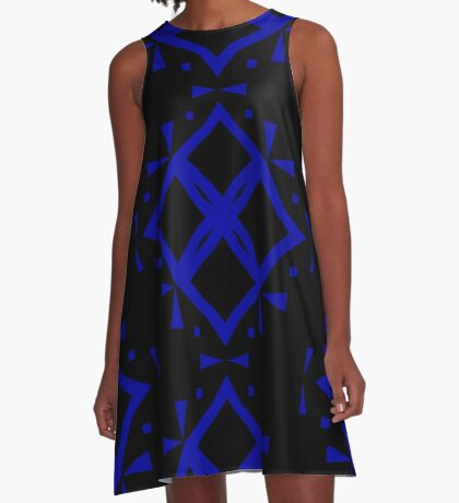 Black and Blue by Julie Everhart A-Line Dress