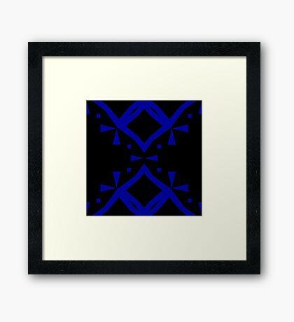Black and Blue by Julie Everhart Framed Print