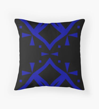 Black and Blue by Julie Everhart Throw Pillow