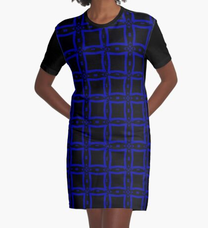 Black  and Blue 2 by Julie Everhart Graphic T-Shirt Dress