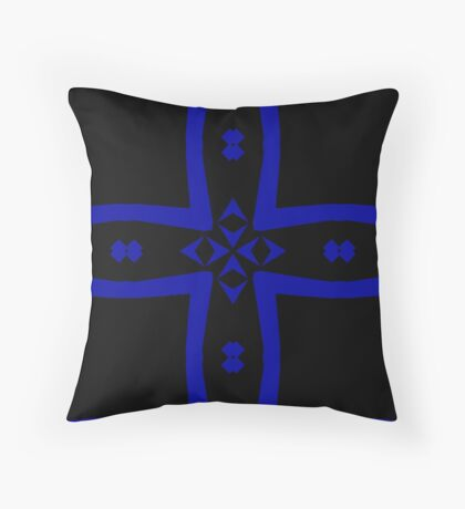 Black  and Blue 2 by Julie Everhart Throw Pillow