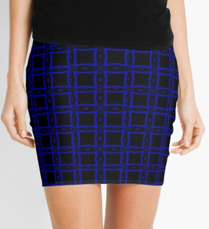 Black  and Blue 2 by Julie Everhart Mini Skirt