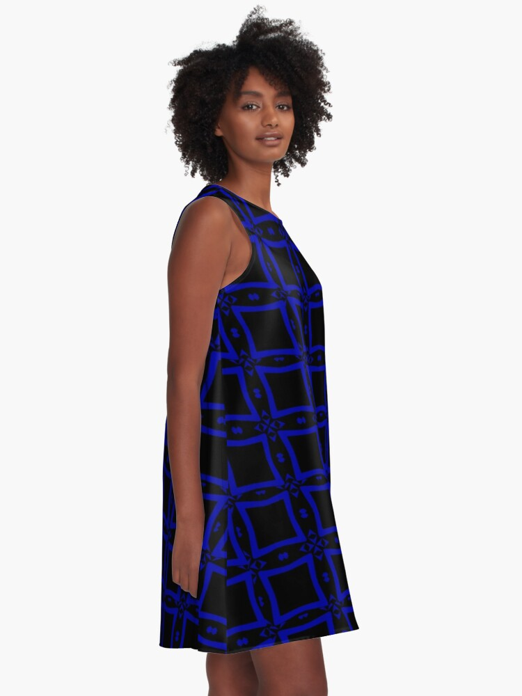Alternate view of Black  and Blue 2 by Julie Everhart A-Line Dress