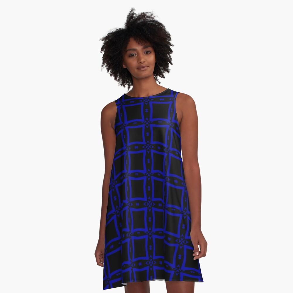 Black  and Blue 2 by Julie Everhart A-Line Dress