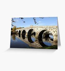 Atcham Bridge  Greeting Card
