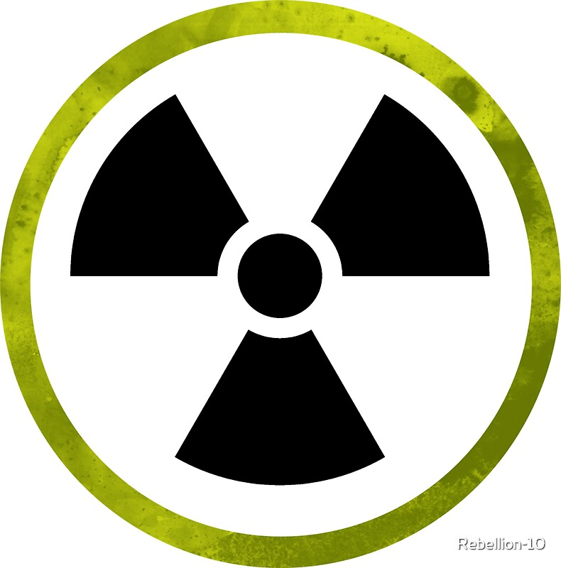 Radioactive Symbol Stickers By Rebellion 10 Redbubble