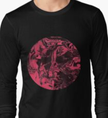 Black and pink marble texture. Long Sleeve T-Shirt
