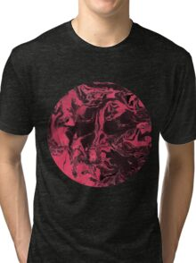 Black and pink marble texture. Tri-blend T-Shirt