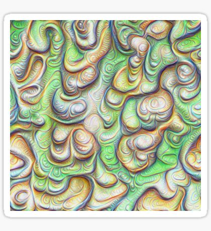Frozen liquid green stones #DeepDream #Art Sticker