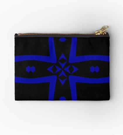 Black  and Blue 2 by Julie Everhart Zipper Pouch