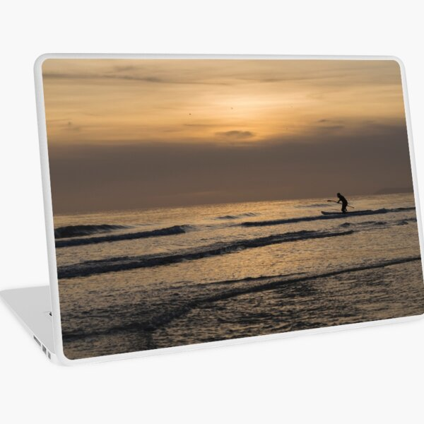 Paddle Boarding at Sunset Laptop Skin