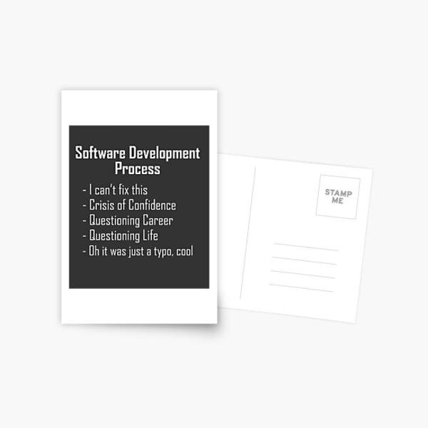 Software Development Humour Design Postcard