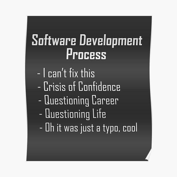 Software Development Humour Design Poster