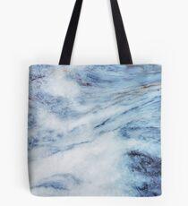 Blauer Marmor Tasche