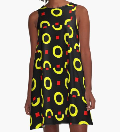 Red and Yellow by Julie Everhart A-Line Dress