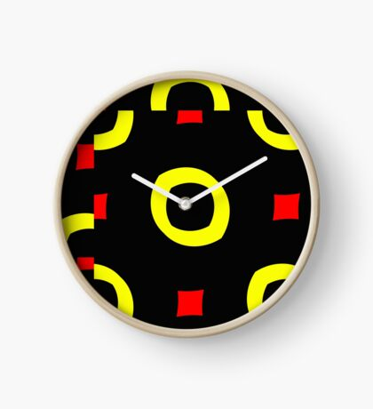 Red and Yellow by Julie Everhart Clock