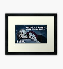 Battlestar Galactica's Roslin and Adama Framed Print
