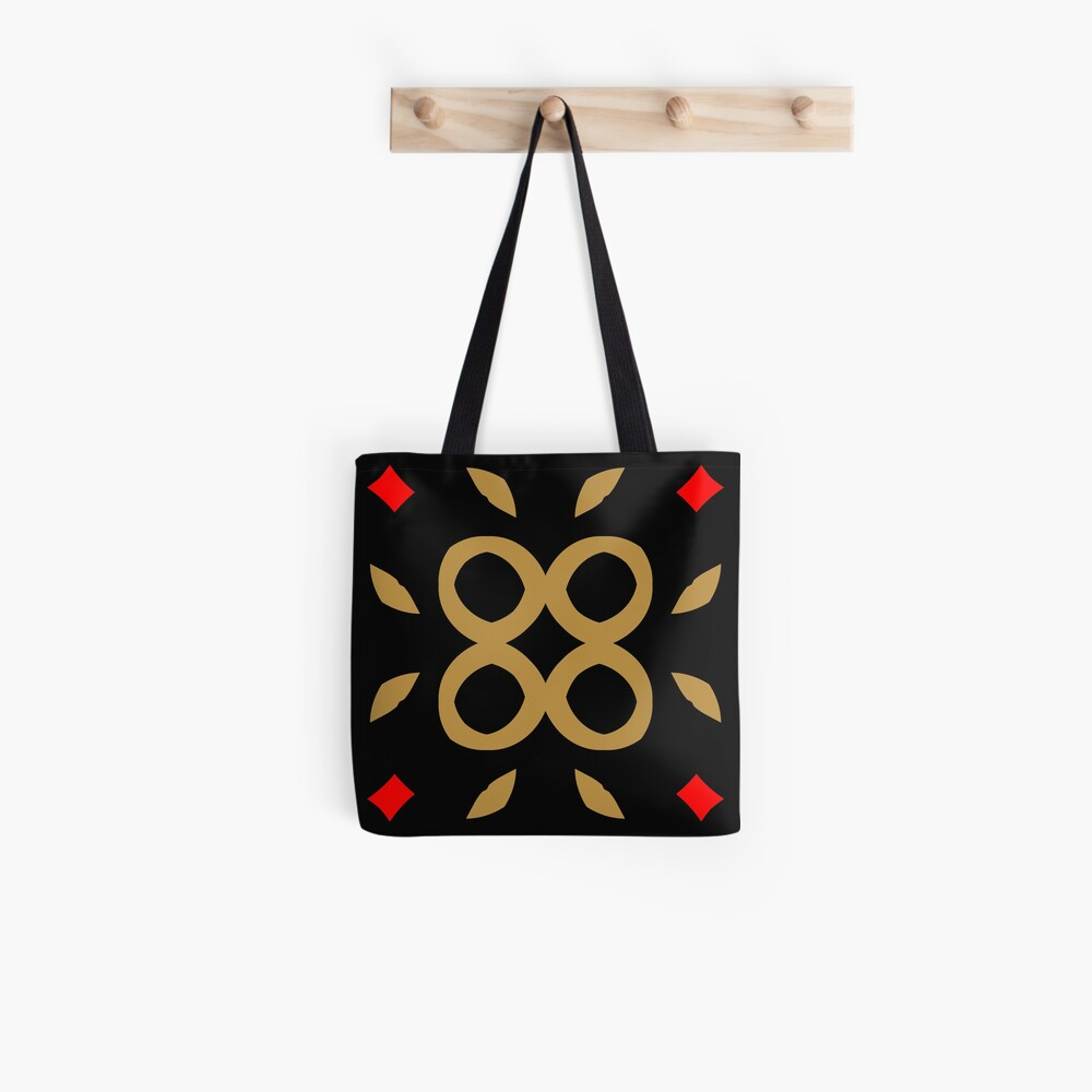 Red and Taupe Design by Julie Everhart Tote Bag