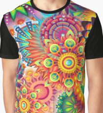 Funky Retro Pattern Abstract Graphic T-Shirt