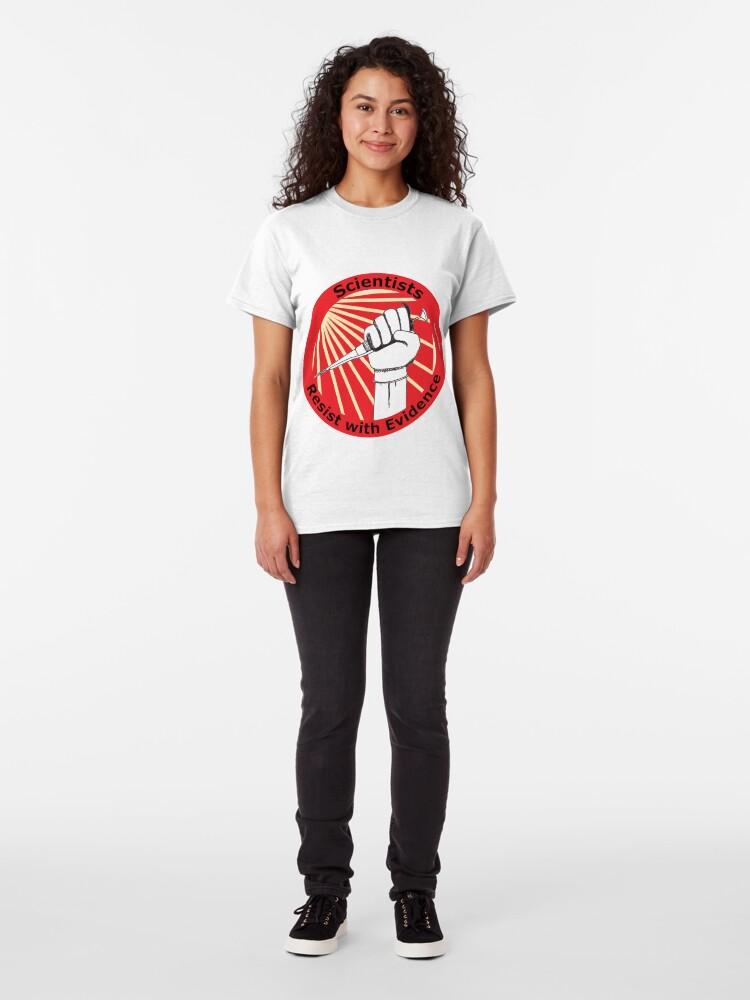 Alternate view of Scientists Resist! (circular) Classic T-Shirt