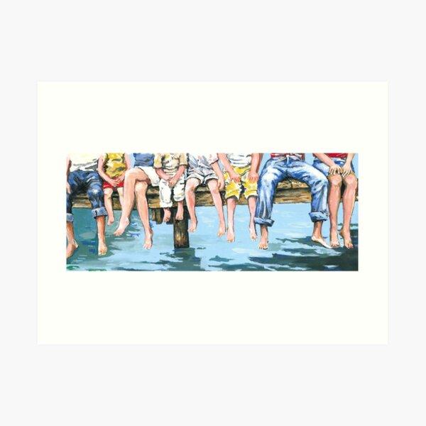 Family on Dock Art Print