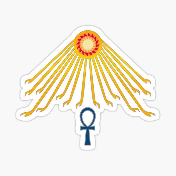 The Aten - Egyptian Deity  Sticker