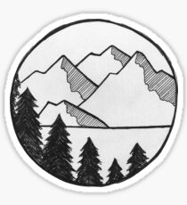 Mountain Views Sticker