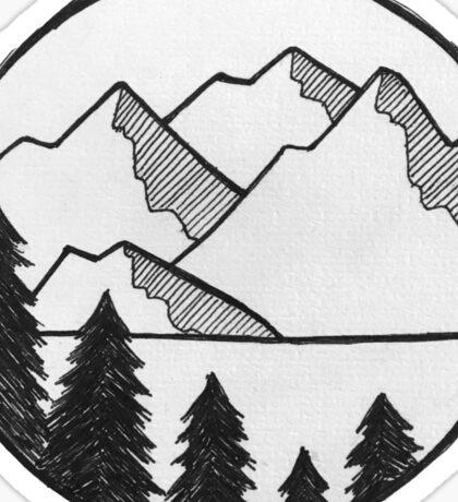 Mountain Views Sticker