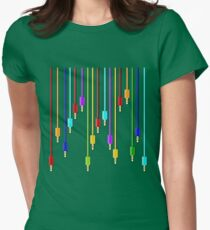 Plug in  Womens Fitted T-Shirt