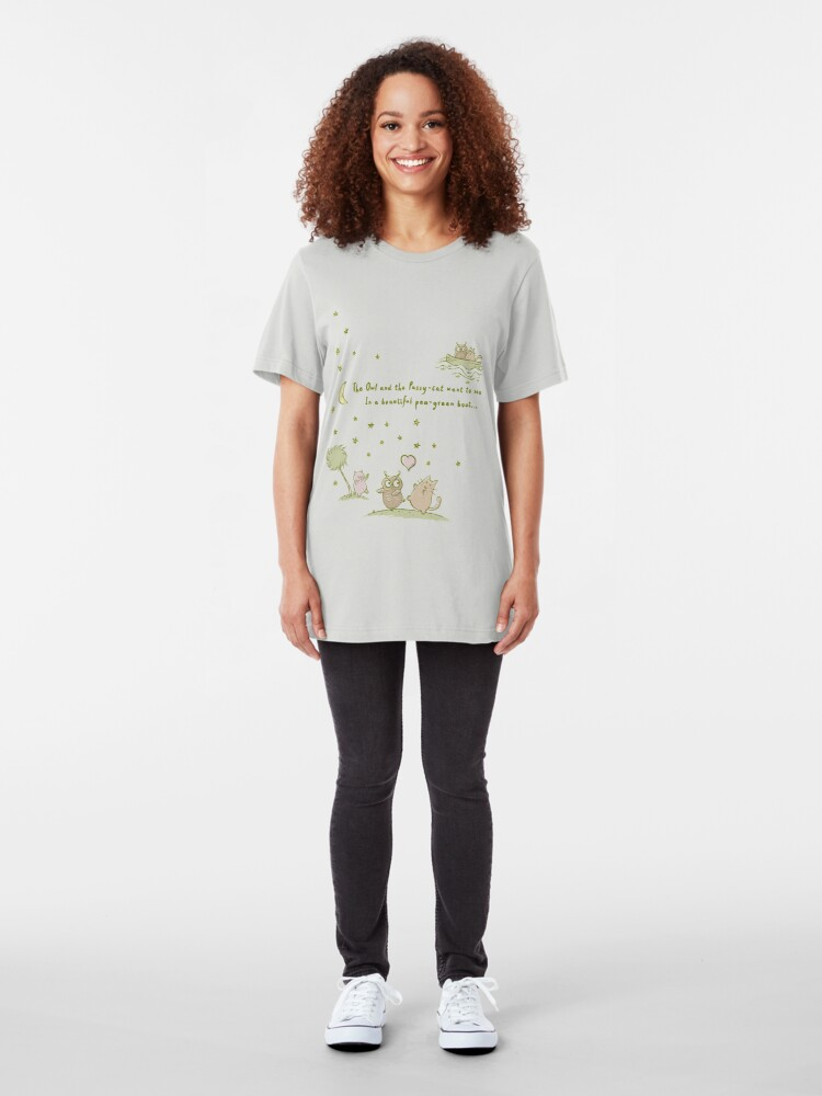 Alternate view of The Owl and the Pussy-Cat Slim Fit T-Shirt