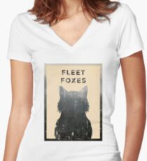 Fleet Foxes Women's Fitted V-Neck T-Shirt