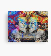 Double Trouble Mixed Media Artwork Canvas Print