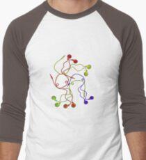 Earphones  Men's Baseball ¾ T-Shirt