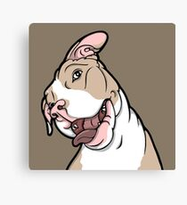 Happy Smiling Pickles The Pit Bull Canvas Print