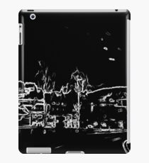 black and white drawing iPad Case/Skin